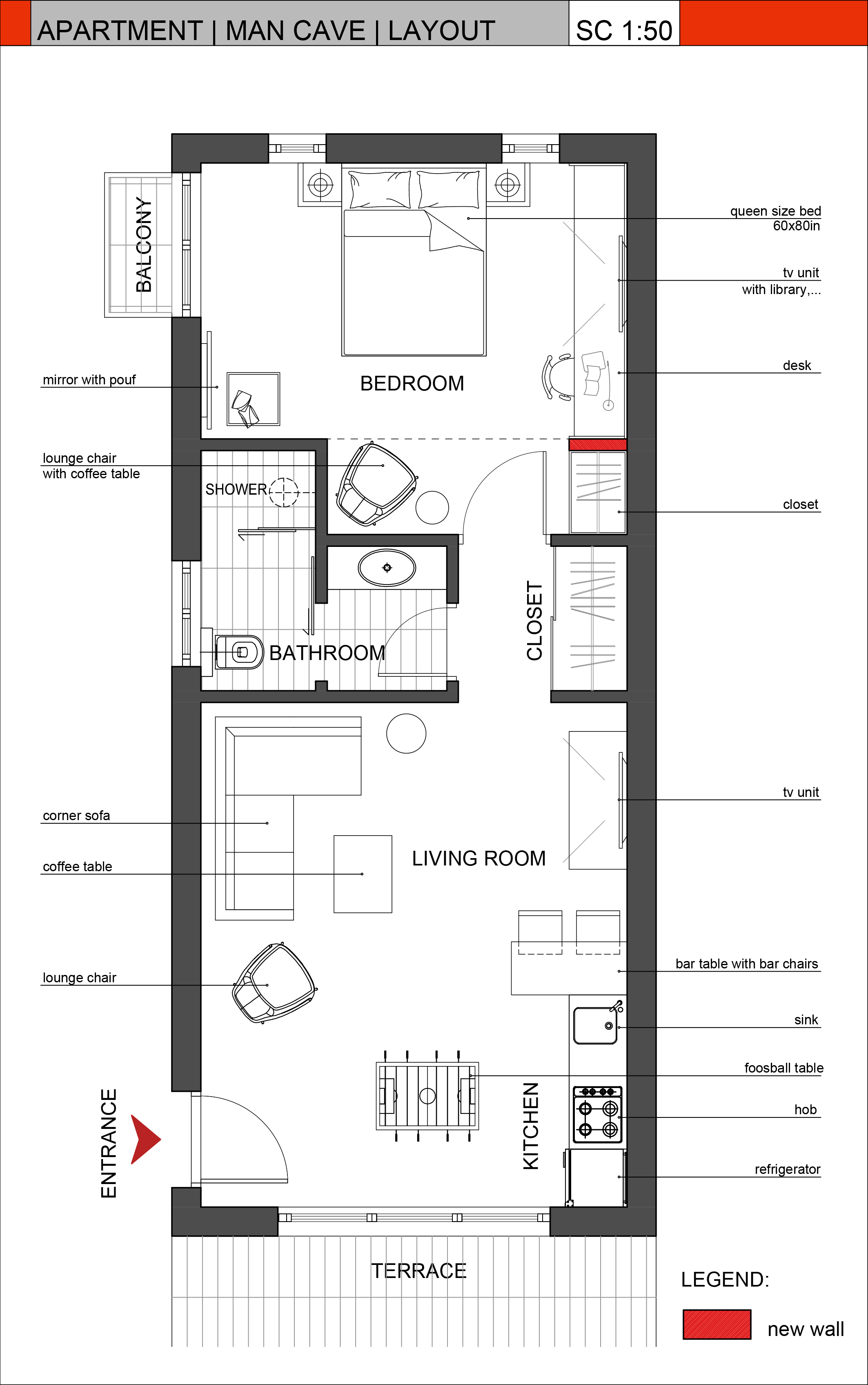 Real estate floor plans for Man cave floor plans